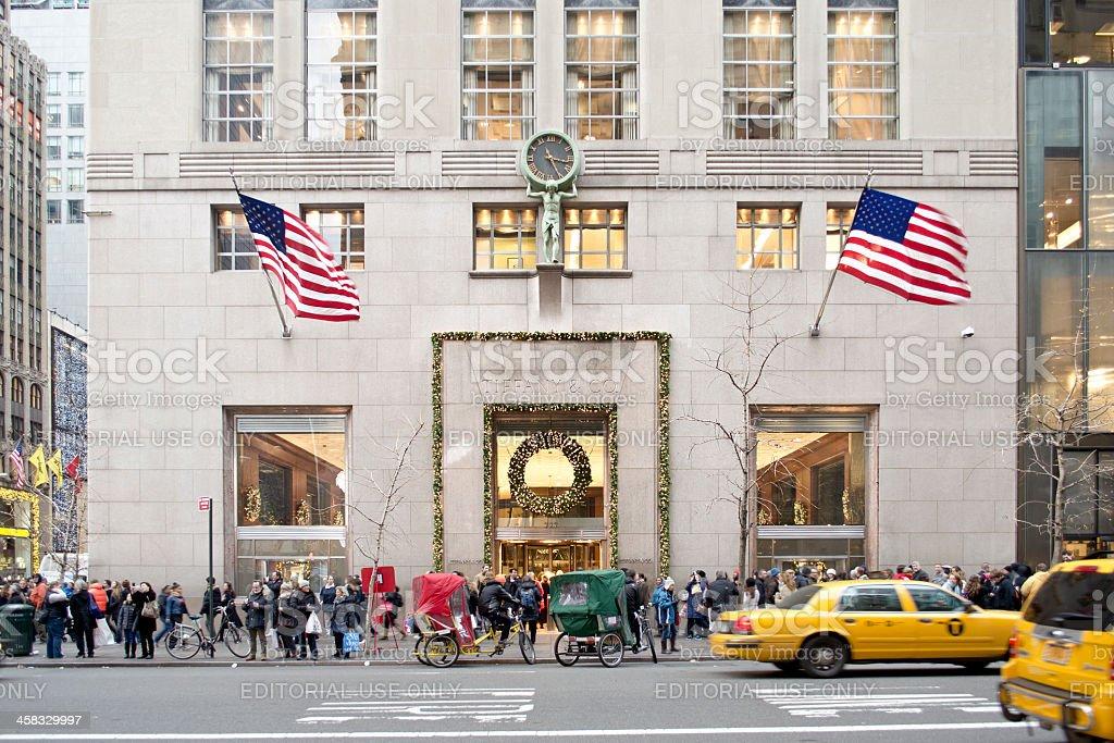 Tiffany & Co. Fifth Avenue Manhattan, Christmas Time stock photo