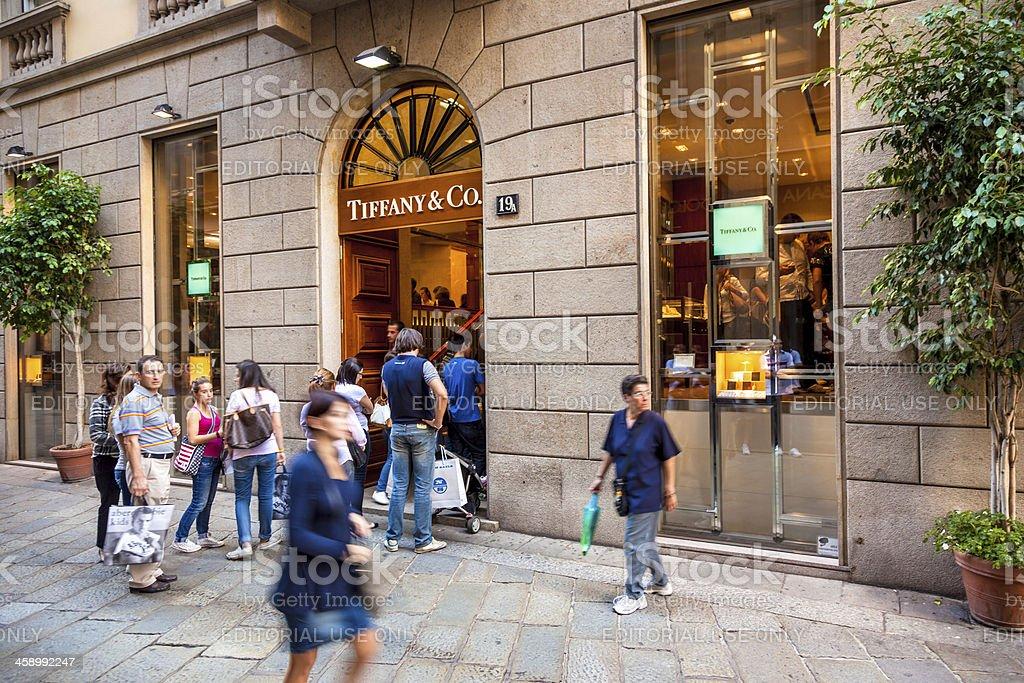 Tiffany & Co Shop - Milan, Italy royalty-free stock photo