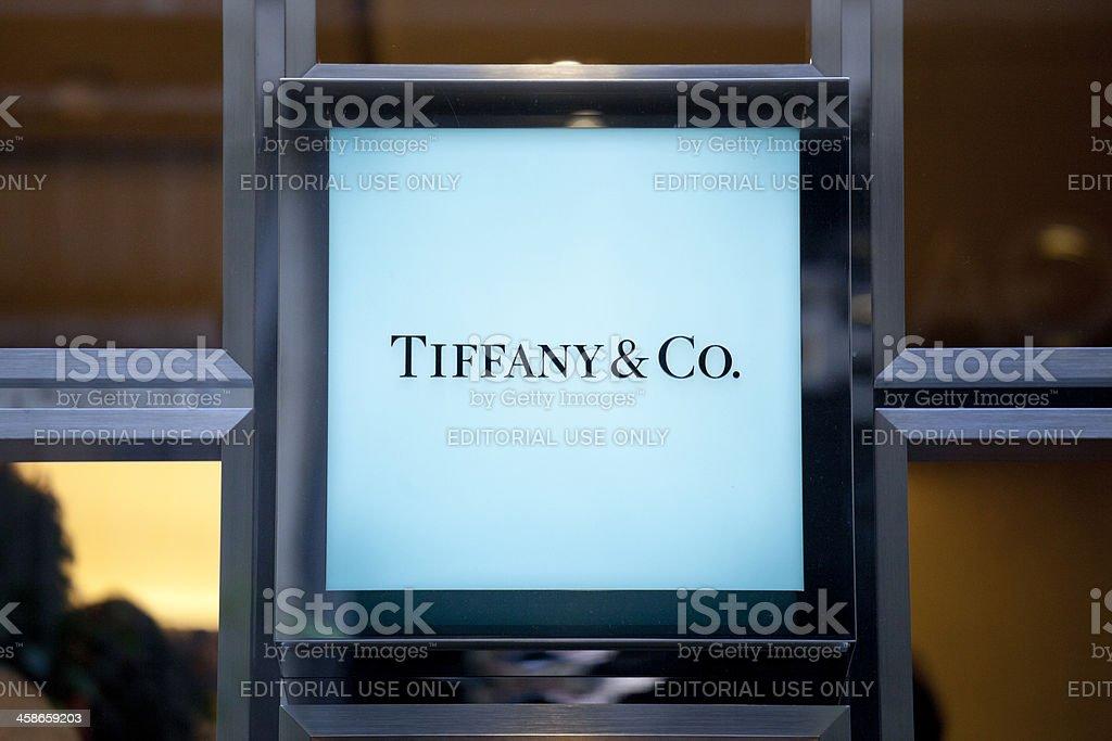 Tiffany & Co sign stock photo