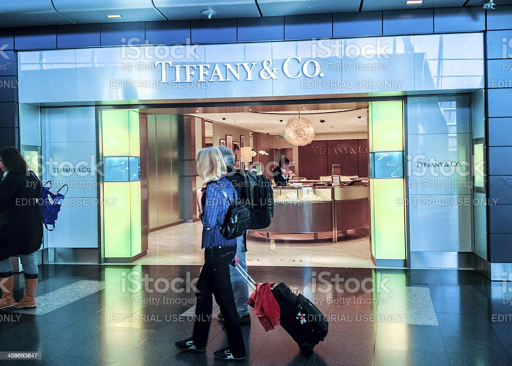 Tiffany & Co. Store at Zurich Airport royalty-free stock photo