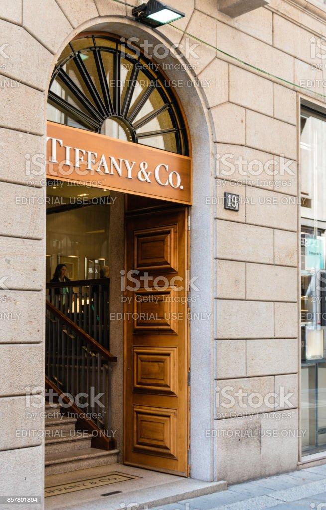 Tiffany & Co Store, Milan, Italy stock photo