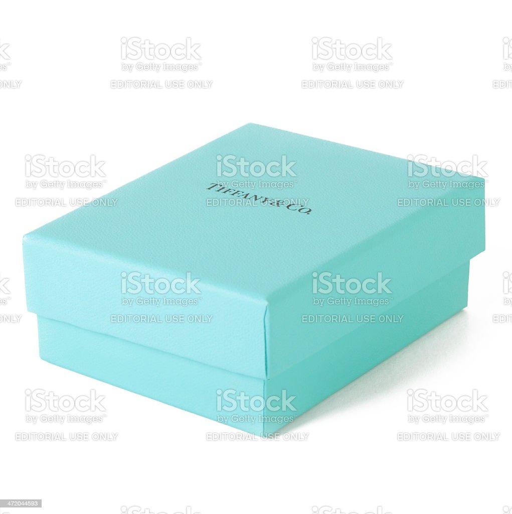 Tiffany Gift Box stock photo