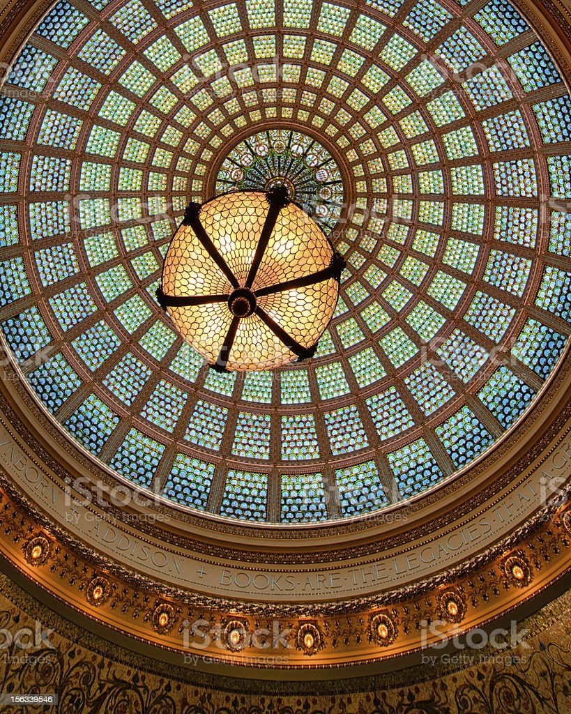 Tiffany glass dome ceiling royalty-free stock photo