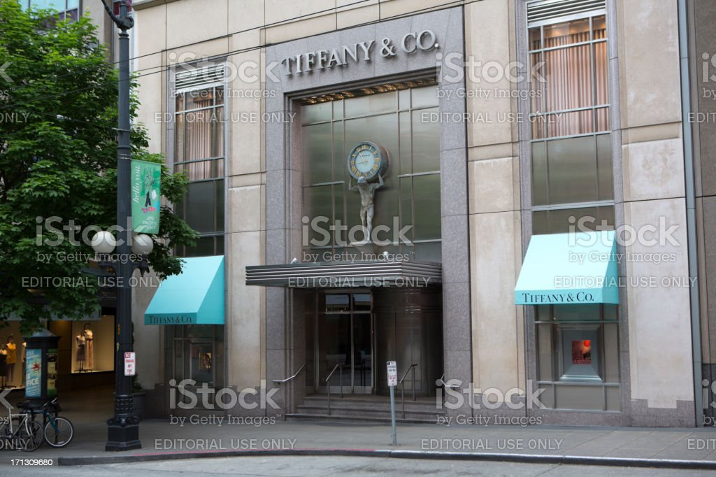 Tiffany's store, downtown Seattle stock photo