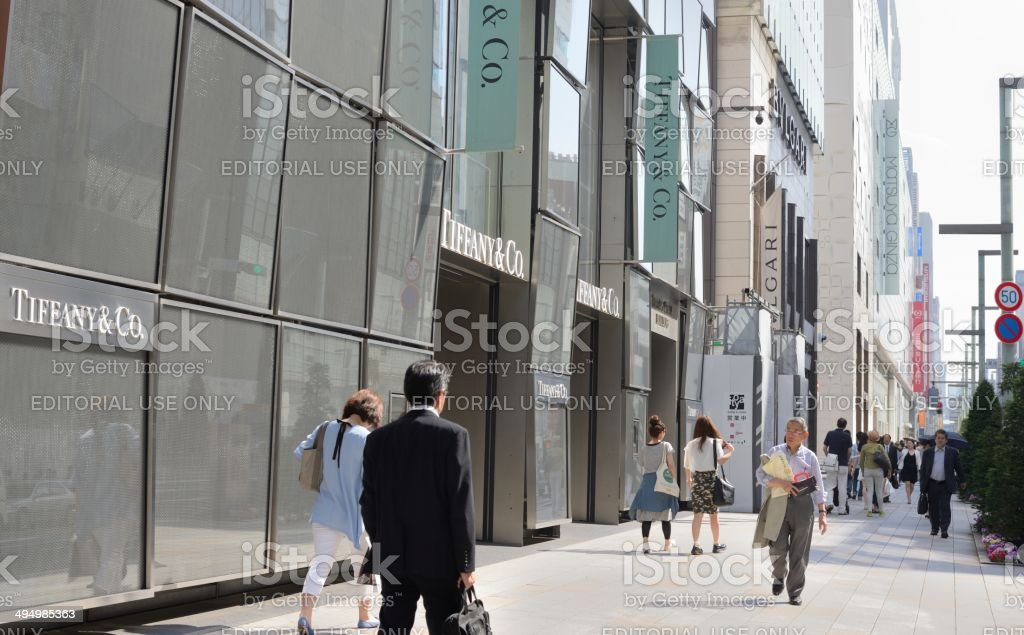 Tiffany's store stock photo