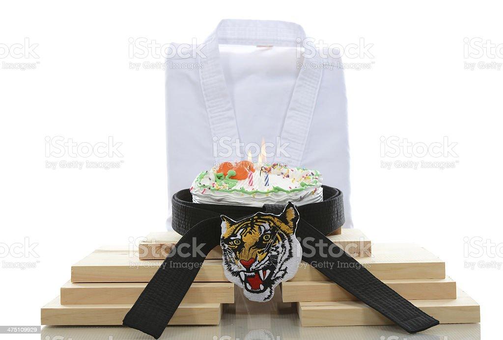 Tiger Celebration stock photo