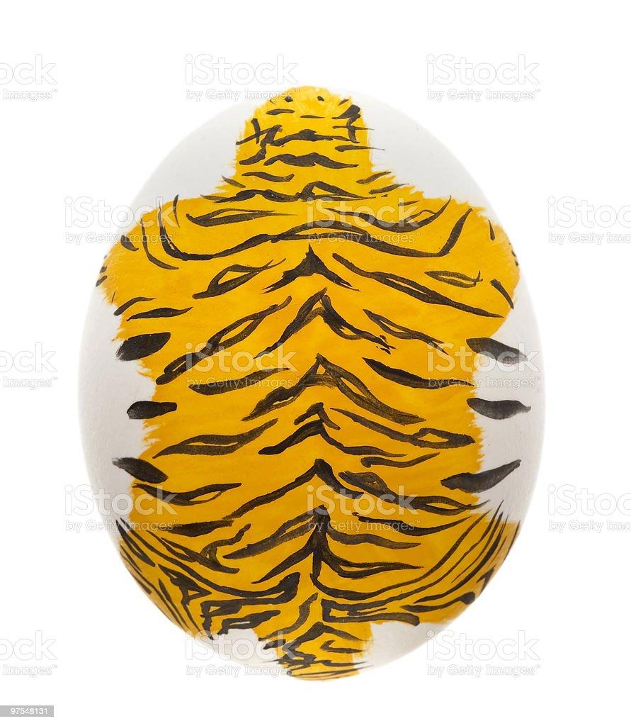 Tiger Oeuf de Pâques photo libre de droits