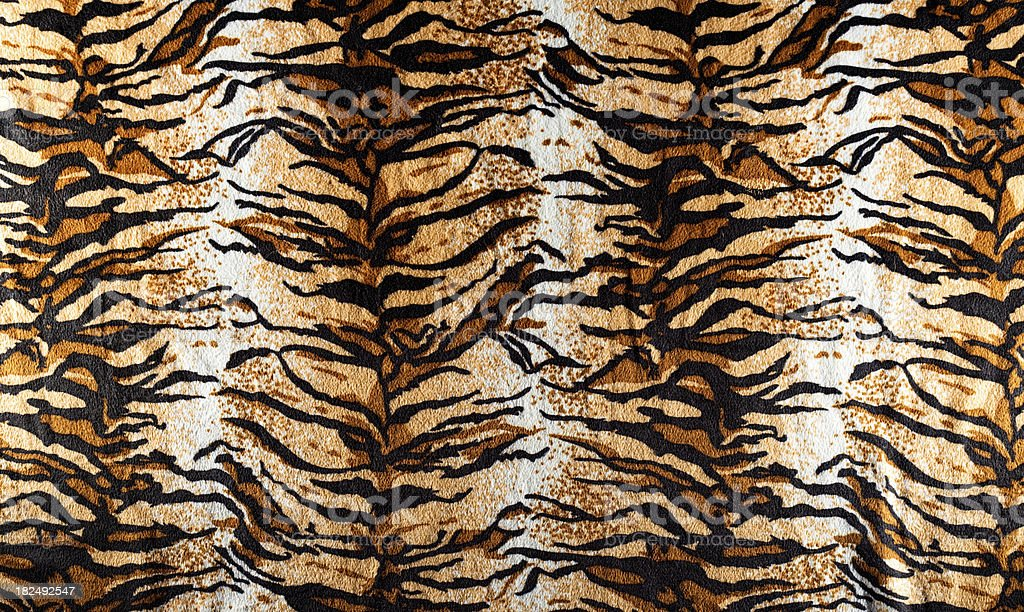 Tiger fur fabric stock photo