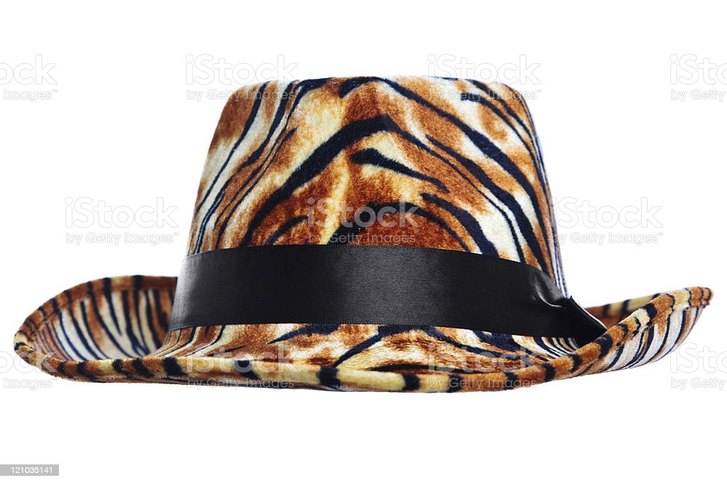 Tiger hat cut out stock photo