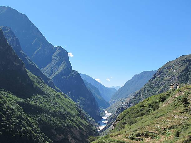 Tiger Leaping Gorge (hutiaoxia) near Lijiang, Yunnan, China stock photo