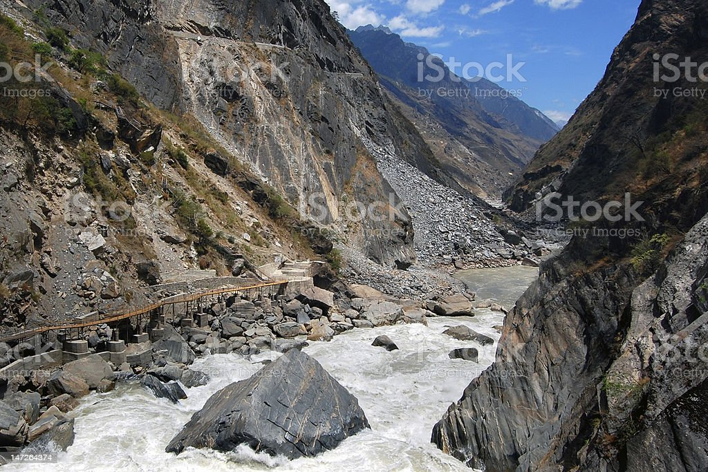 Tiger Leaping Gorge royalty-free stock photo
