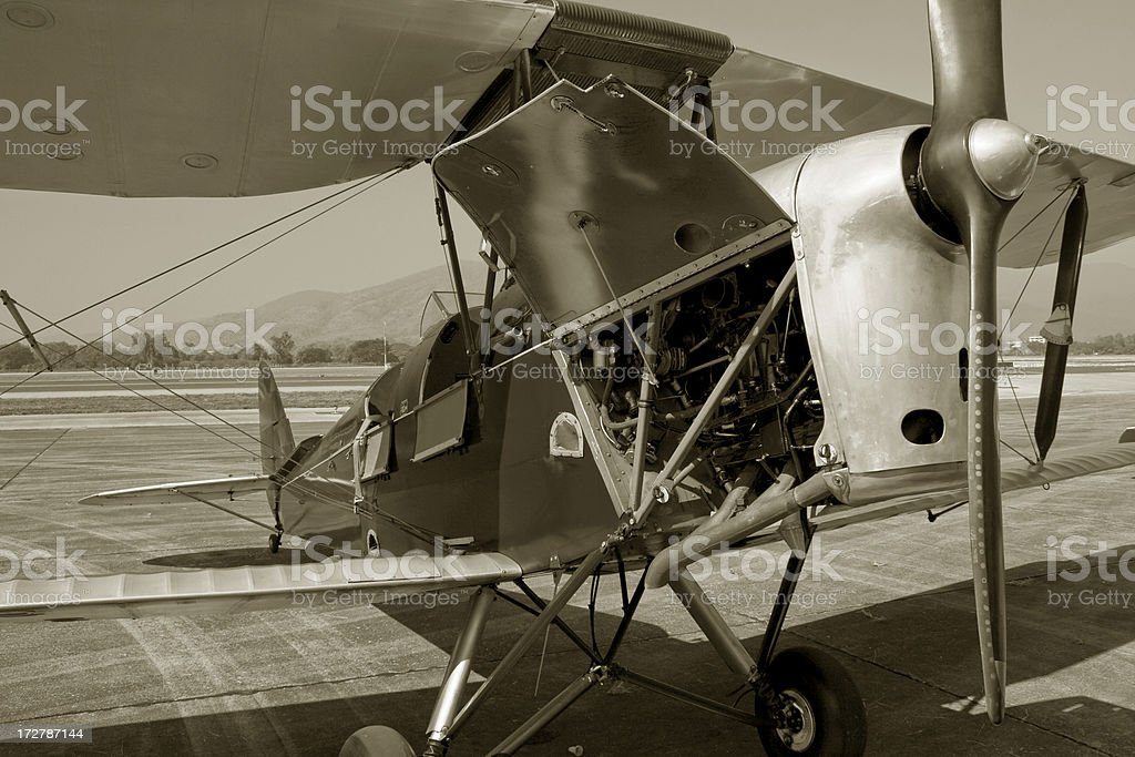 Tiger Moth :  the World War II  aircraft royalty-free stock photo