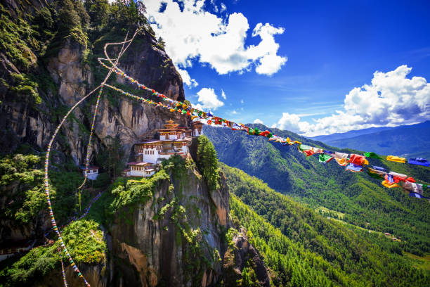Tiger nest monastery stock photo