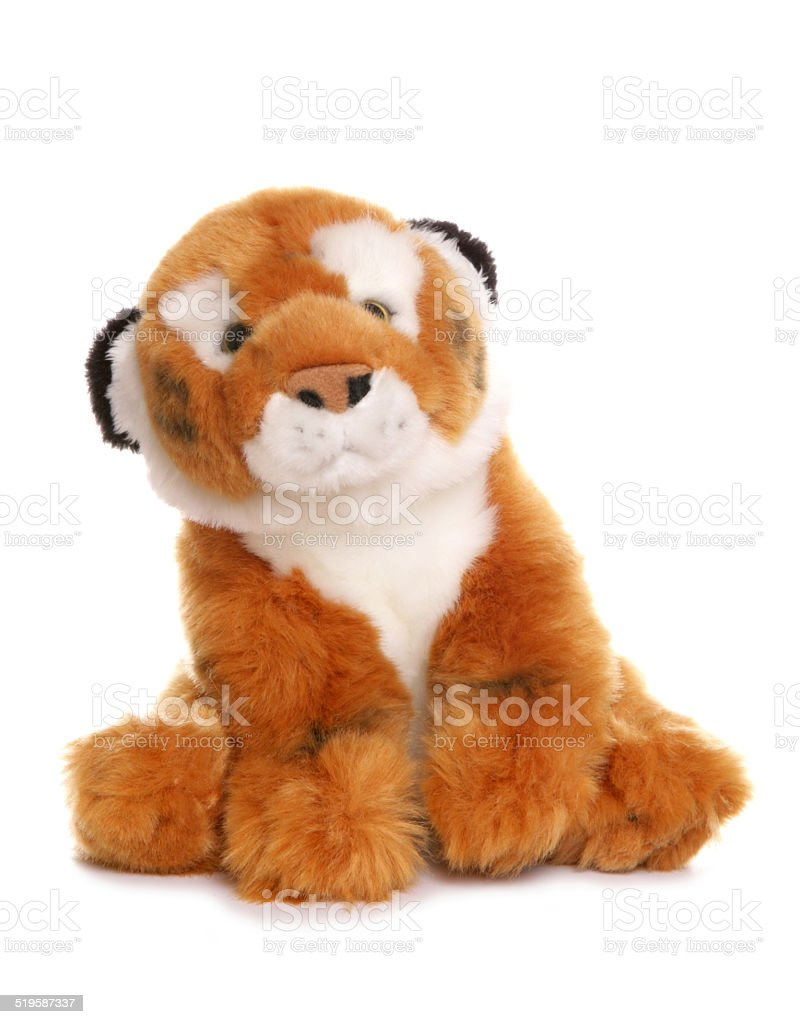 Tiger soft toy stock photo