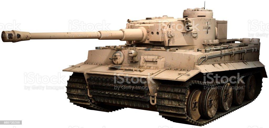 Tiger tank in desert colours stock photo