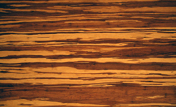 Tiger Wood Hardwood Flooring - Overhead View stock photo