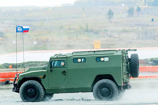 VIPS-233115 Tiger-M armored vehicle. Russia stock photo
