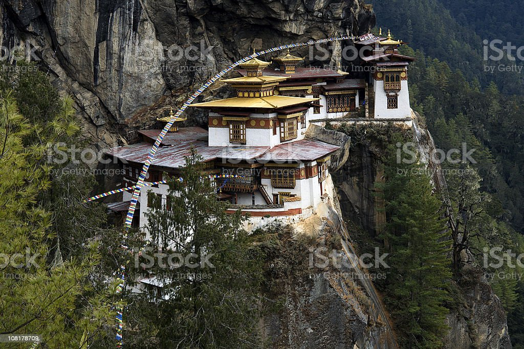 Tigers Nest in Bhutan royalty-free stock photo