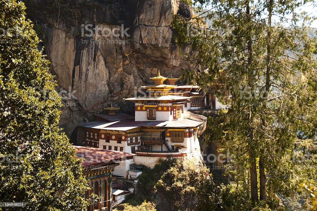 Tiger's Nest in the sunshine stock photo