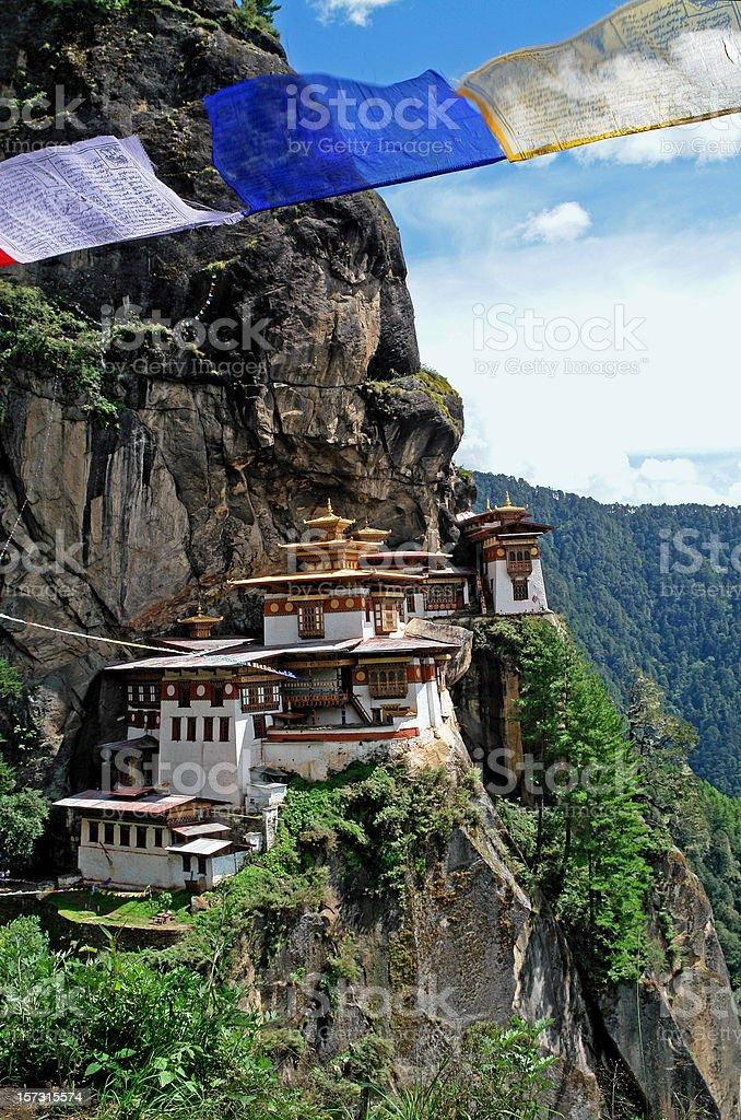 'Tiger's Nest' (Taktshang) Monastery in Bhutan royalty-free stock photo