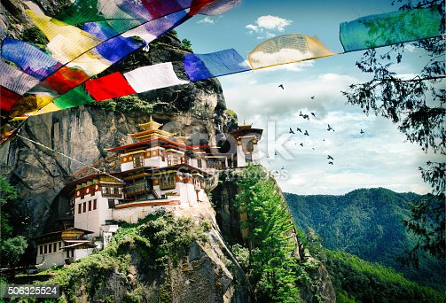 Tiger's Nest Monastery (Taktshang) in the Kingdom of Bhutan