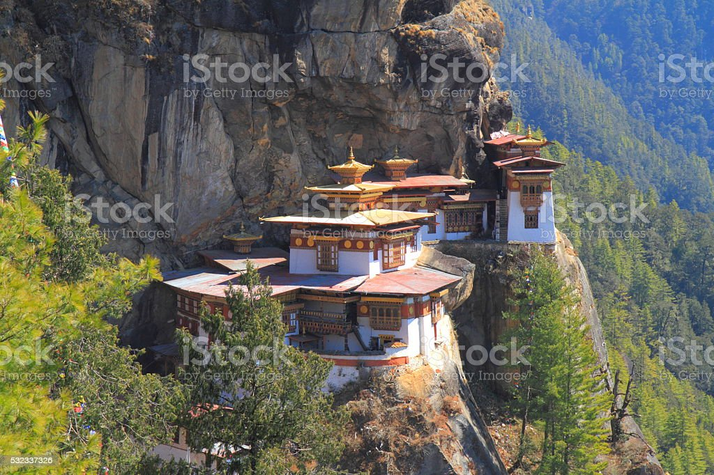 Tiger's Nest, Taktsang Monastery, Bhutan stock photo