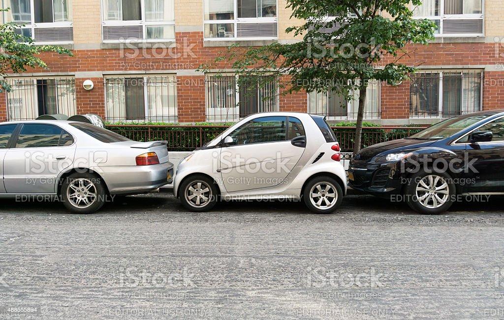 Tight Car Park stock photo