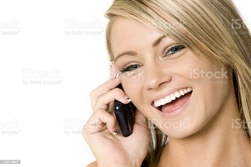 tight cropped phone conversation royalty-free stock photo