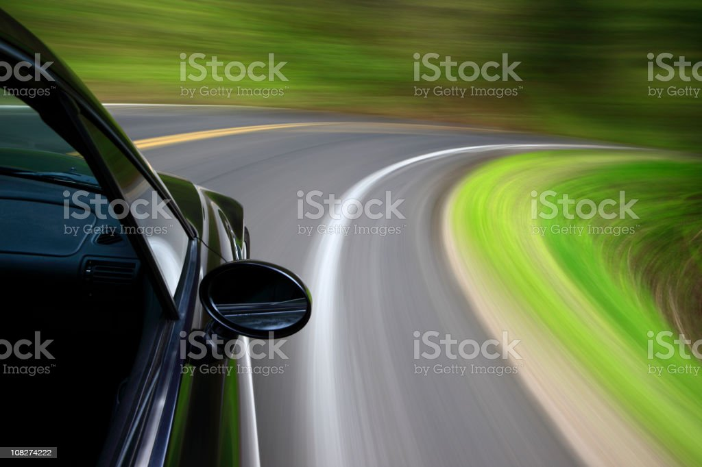 Tight curve at speed. royalty-free stock photo