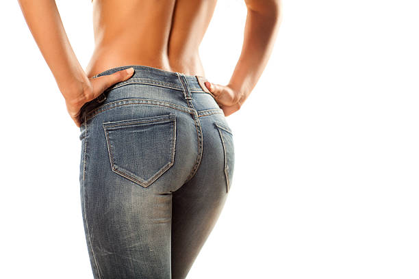 tight jeans - buttock stock photos and pictures