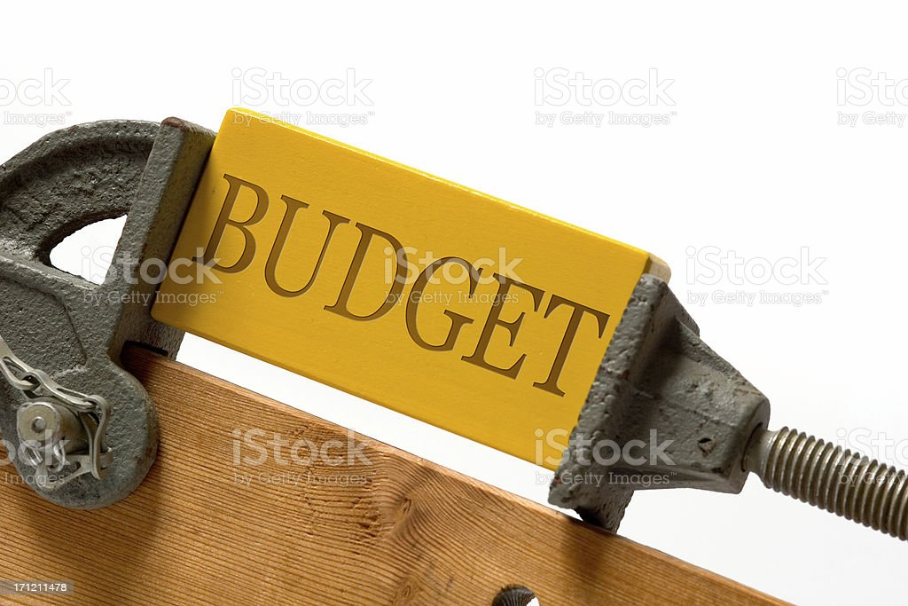 Tighten the budget stock photo