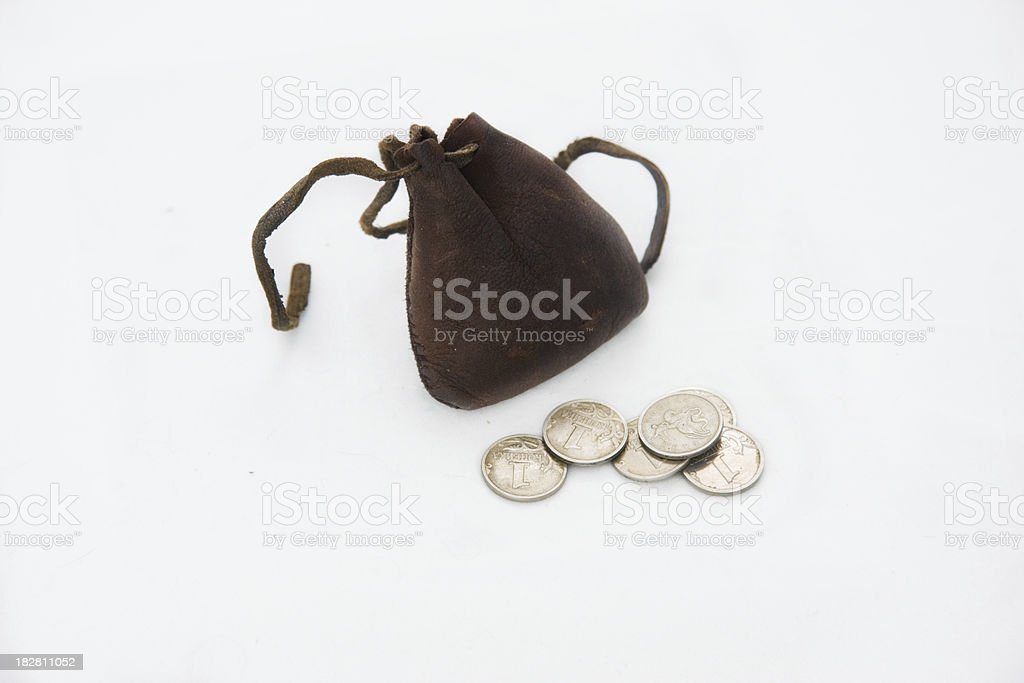 tight-filled purse stock photo