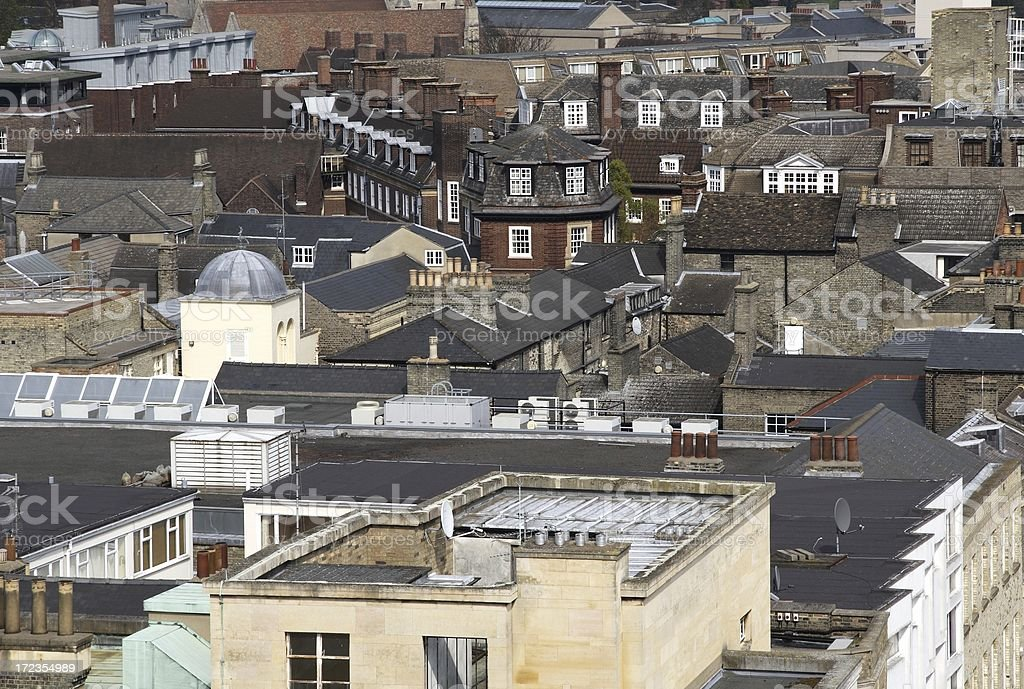Tightly packed rooftops royalty-free stock photo