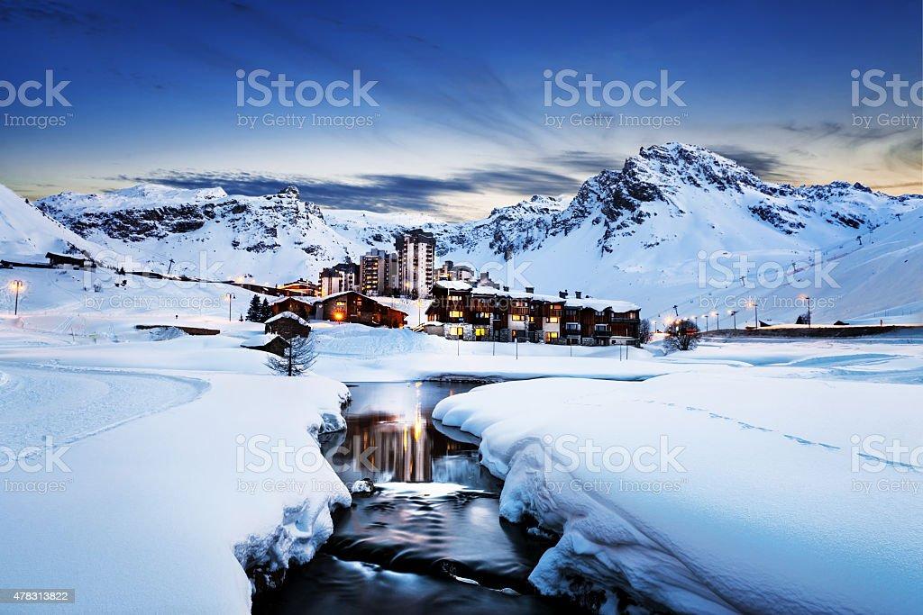 Tignes, Alpes, France photo libre de droits