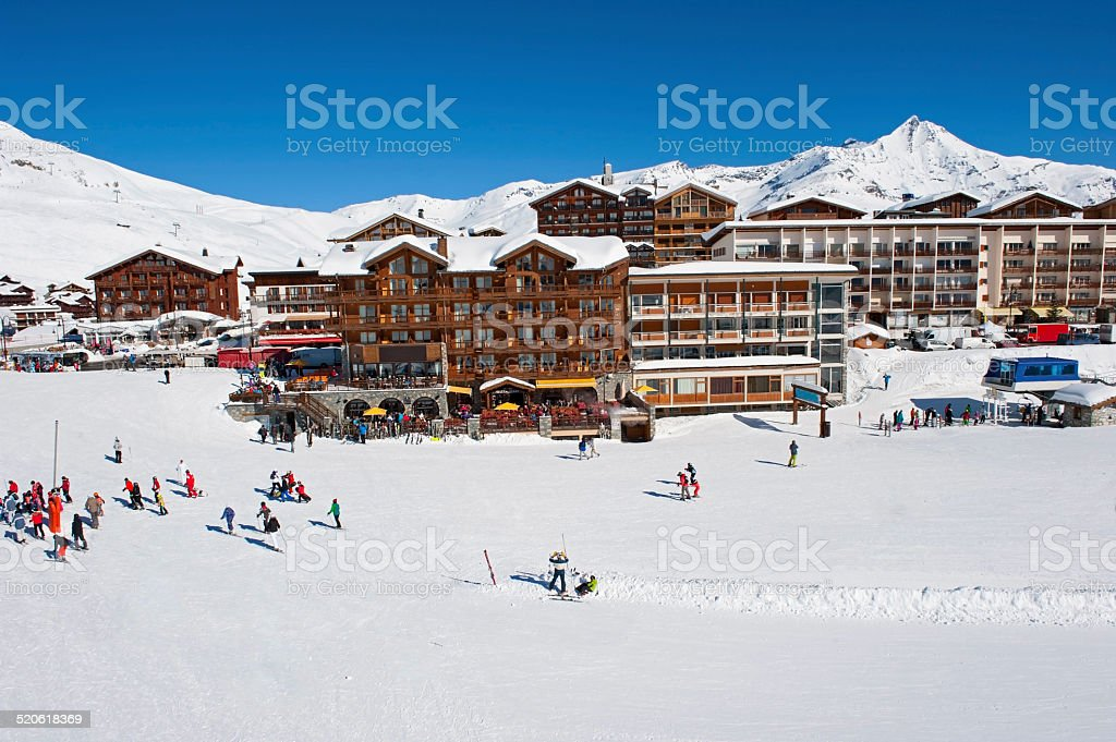Tignes, ski resort in French Alps stock photo