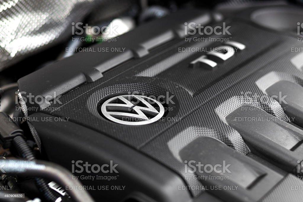 VW Tiguan TDI-Motor bay – Foto