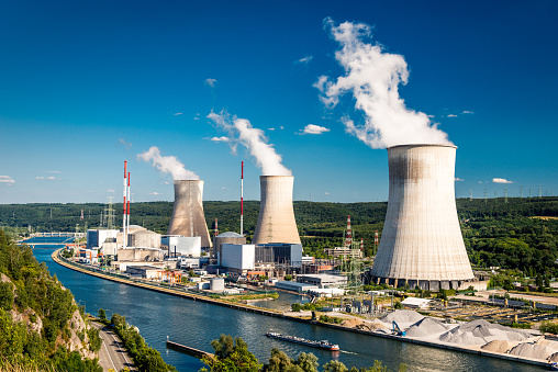 Tihange Nuclear Power Station in Huy, Belgium