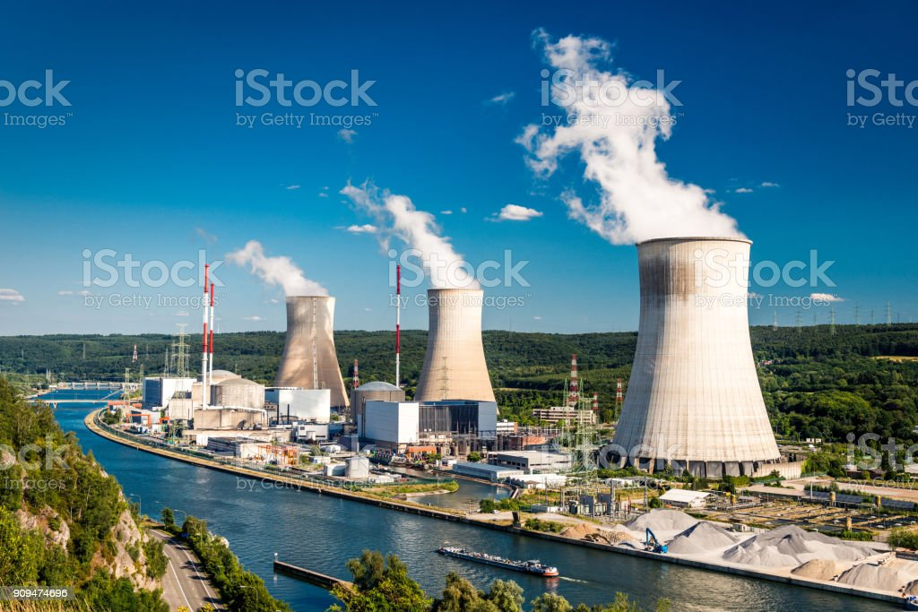Tihange Nuclear Power Station stock photo