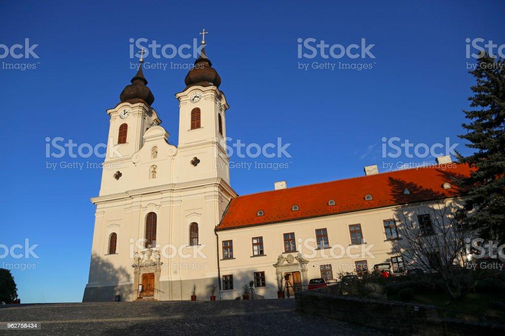 Tihany Abbey stock photo