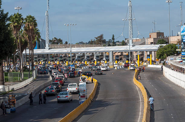 tijuana border crossing - geographical border stock photos and pictures