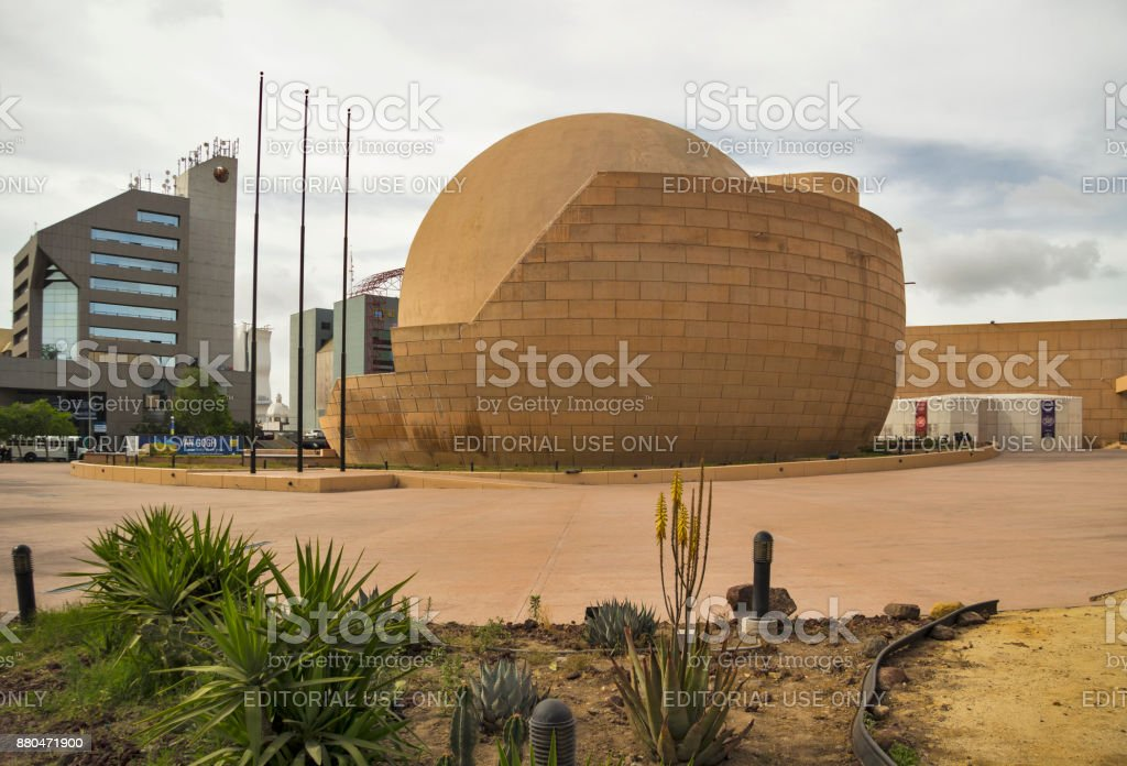 Tijuana spherical OMNIMAX cinema of cultural center CECUT stock photo