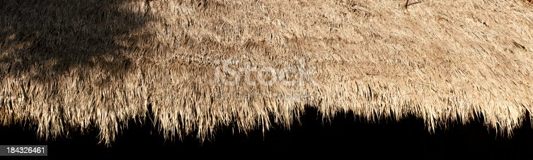 straw tiki hut trim / to be used as a border / that's pretty cool hey