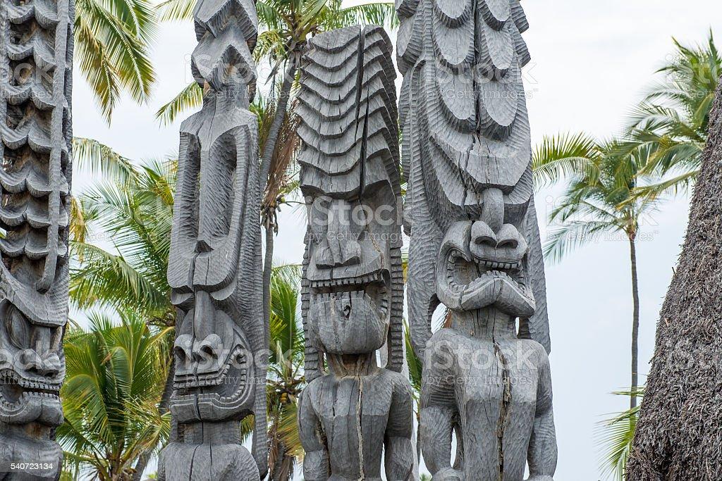 Tiki Statue stock photo