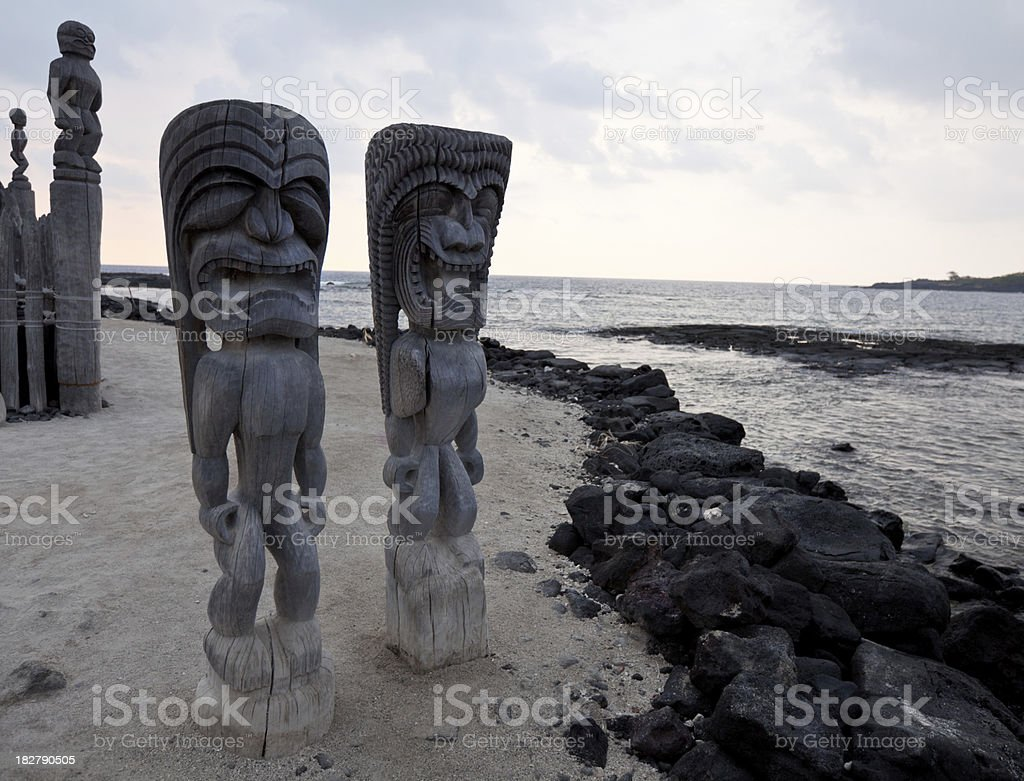 Tiki statues royalty-free stock photo