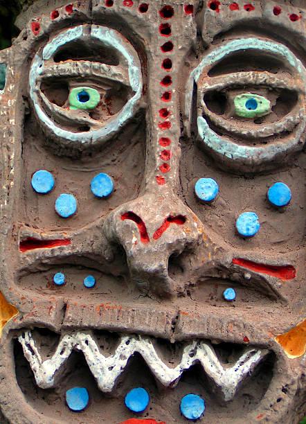 Tiki Totem stock photo