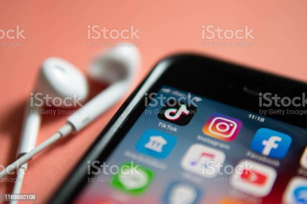 Tiktok Application Stock Photo - Download Image Now