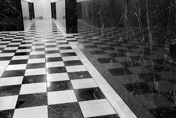 Tile and Marble Hallway stock photo