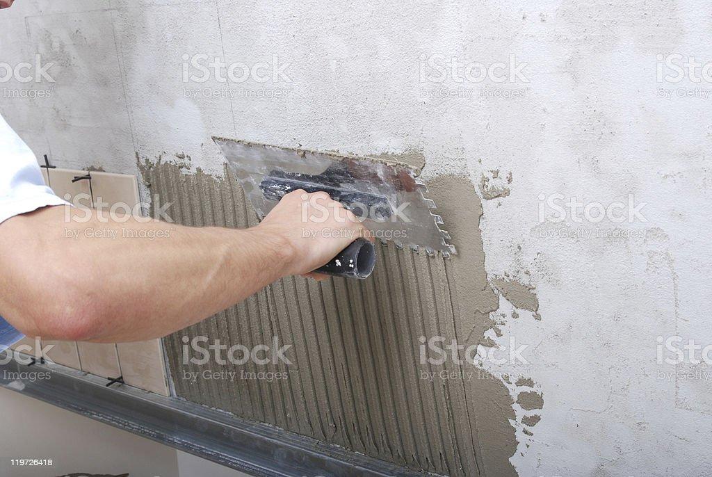 Tile and Mortar stock photo