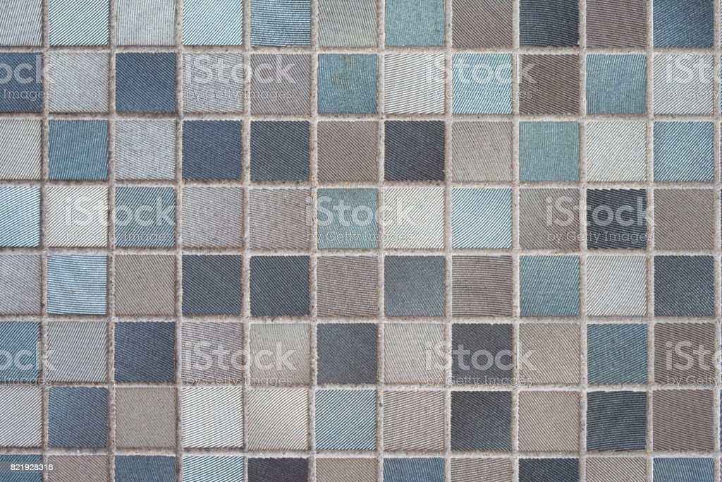 tile background: Brown, blue, white and black stock photo