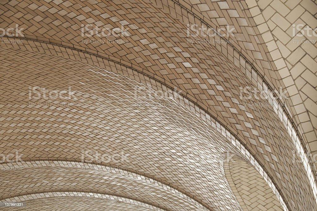 Tile ceiling stock photo